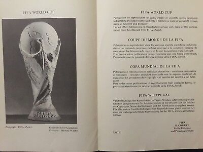 1972 FIFA World Cup Trophy. official FIFA presentation