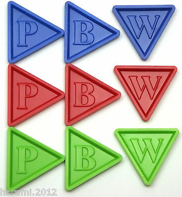 Deposit Coins Brands of Beer Tokens in triangular shape with Embossing -P B W