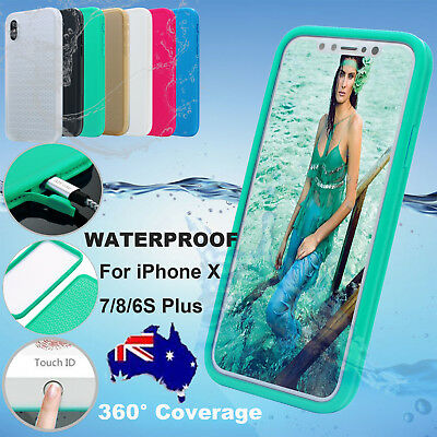 Waterproof Dirtproof Shockproof Thin Tough Case Cover For iPhone X 7 8 Plus 6S 5