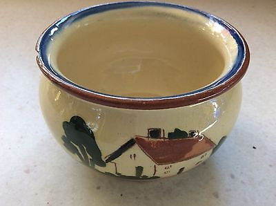 Vintage Devon Motto Ware Pottery Bowl marked:- Watcombe Torquay