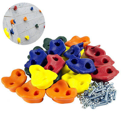 1pc Kids Rock Wall Hand Climbing Holds with Hardware | Screws & Rocks In