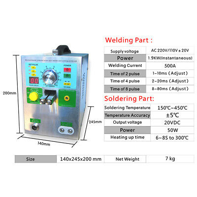 New 4-In-1 709AD+ Intelligent Induction Automatic Trigger Spot Welder 220V/110V