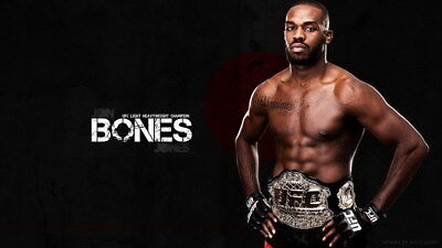 "002 Jon Jones - UFC Light Heavyweight Champion American Fighter 24""x14"" Poster"
