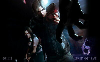 """011 Resident Evil 6 -  Biohazard Zombie Shooting Hot TV Game 22""""x14"""" Poster"""