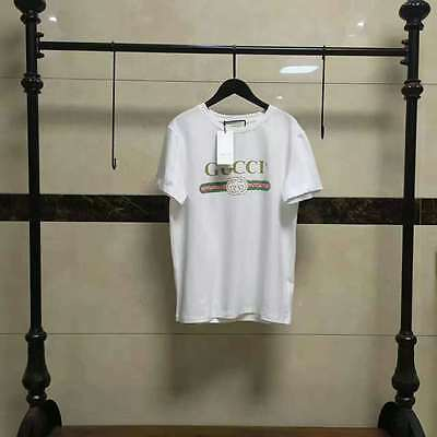 2017 Loose white T shirt printed embroidery fashion two styles popular S M L XL
