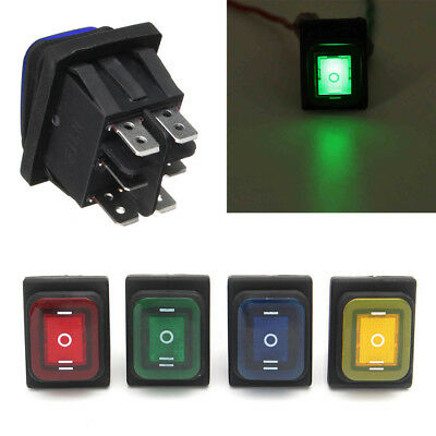 1pc 12V 6Pin LED Light Car Boat Rocker Toggle Switch Waterproof On-Off-On