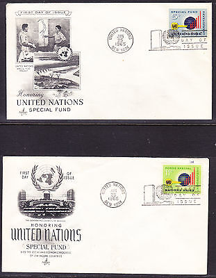 "United Nations ""Artcraft"" 1965 - Special Fund TWO  FDC Unaddressed"