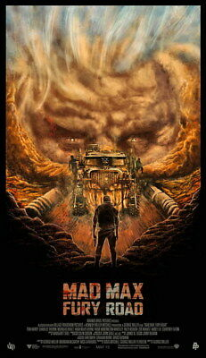 "026 Mad Max 4 Fury Road - Fight Shoot Car USA Movie 14""x24"" Poster"