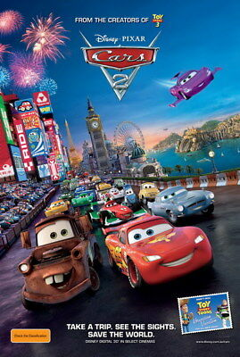 "030 Cars - Pixar Lightning McQueen Cartoon Movie 14""x20"" Poster"