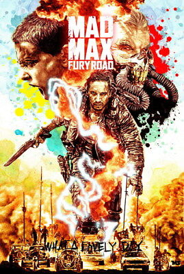 "131 Mad Max 4 Fury Road - Fight Shoot Car USA Movie 14""x20"" Poster"