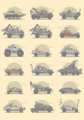"""166 Mad Max 4 Fury Road - Fight Shoot Car USA Movie 14""""x19"""" Poster"""