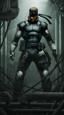 "032 Metal Gear Solid - Snake Rising v the Phantom Pain Game 14""x24"" Poster"