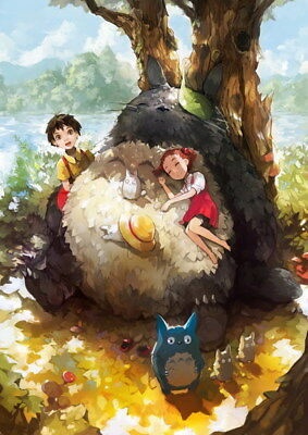 "070 My Neighbor Totoro - Hayao Miyazaki Cute Japan Anime Movie 14""x19"" Poster"