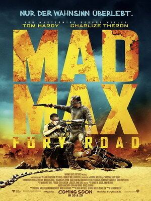 "044 Mad Max 4 Fury Road - Fight Shoot Car USA Movie 14""x18"" Poster"