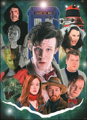 "002 Doctor Who - BBC Space Travel 50th_anniversary Hot TV Show 14""x19"" Poster"