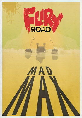 "127 Mad Max 4 Fury Road - Fight Shoot Car USA Movie 14""x20"" Poster"