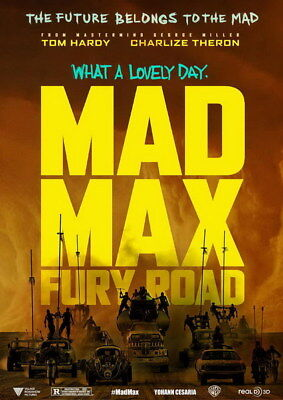 "155 Mad Max 4 Fury Road - Fight Shoot Car USA Movie 14""x19"" Poster"