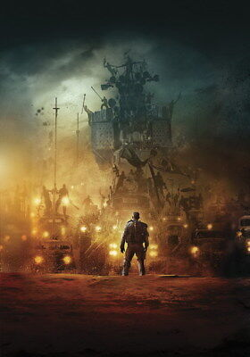 """129 Mad Max 4 Fury Road - Fight Shoot Car USA Movie 14""""x20"""" Poster"""