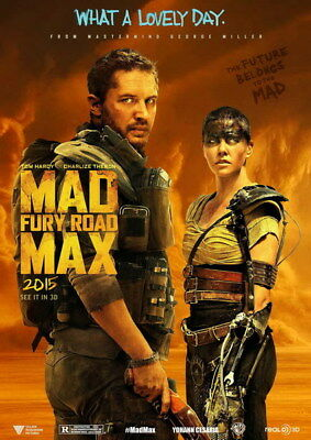 """057 Mad Max 4 Fury Road - Fight Shoot Car USA Movie 14""""x19"""" Poster"""