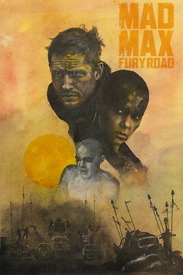 """063 Mad Max 4 Fury Road - Fight Shoot Car USA Movie 14""""x21"""" Poster"""