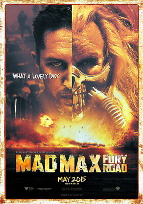 """089 Mad Max 4 Fury Road - Fight Shoot Car USA Movie 14""""x20"""" Poster"""