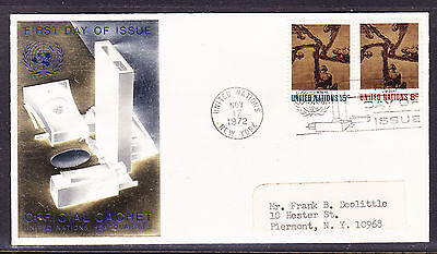 United Nations 1972 - Art  First Day Cover addressed