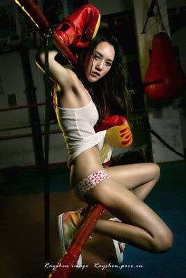 """013 Girl Boxer - Fight Trainning Beauty Boxing Sports 24""""x36"""" Poster"""