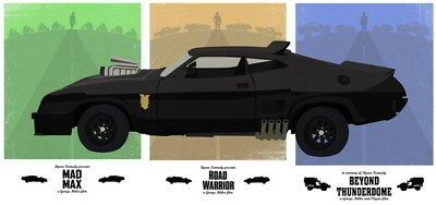 "098 Mad Max 4 Fury Road - Fight Shoot Car USA Movie 29""x14"" Poster"