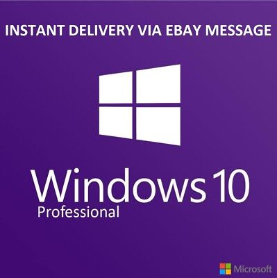 Windows 10 Pro Professional 32 64bit License Key Instant Delivery+ Download Link