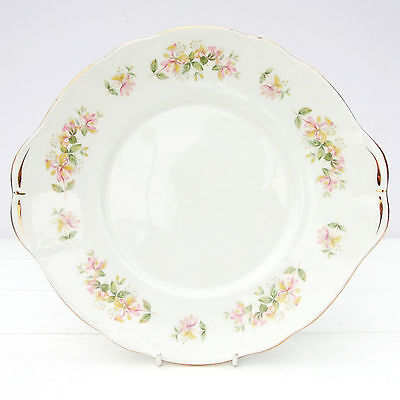 Vintage Duchess Honeysuckle Bone China Cake Plate