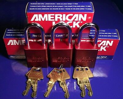 American Lock A1106 NEW IN BOX 3 LOCKS 3 SETS OF KEYS - KEYED ALIKE