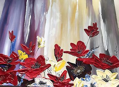Original Oil And Acrylic Painting, Direct From The Artist, Wild Flowers