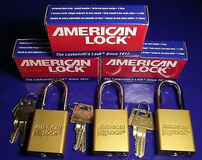 American Lock A1106 NEW IN BOX 3 LOCKS 3 SETS OF KEYS - KEYED DIFFERENT