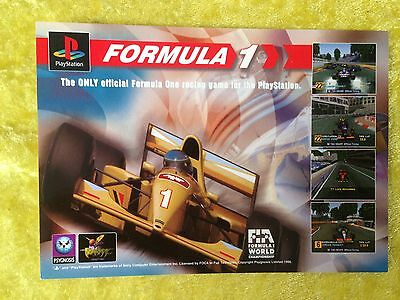Playstation FORMULA 1 Colour Postcard