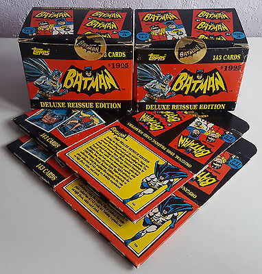 1989 Topps Batman Deluxe 1966 Reissue Edition, Trading Cards, Incomplete, Spares