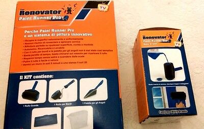 ORIGINAL PAINT RUNNER PRO Renovator KIT + GENUINE EXTRA ROLLER HEAD Replacement
