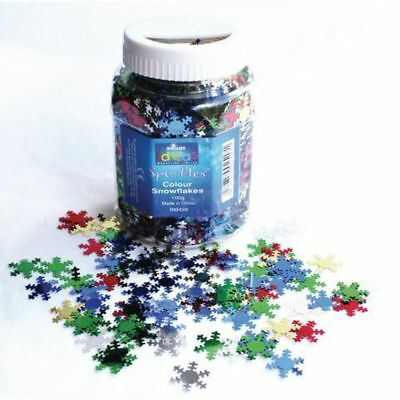 Coloured Snowflake Sequins