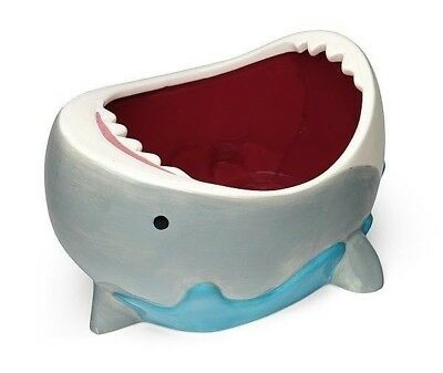 Shark Attack Ceramic 20 Oz Inside Red Bowl For Whark Week Parties Pirate & Theme