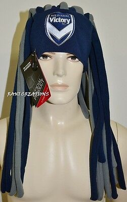 BNWT - Melbourne Victory Dreadlock Fun Hat A-League Beanie Headwear - RRP:$34.99