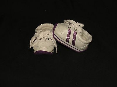 Shoes To Fit The American Galoob Baby Face Girl Doll Purple Tennis Mini Sketz