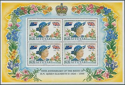 Aitutaki 1996 SG694 QEII 70th Birthday sheetlet MNH