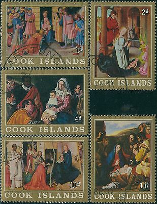 Cook Islands 1966 SG194-198 Christmas set FU