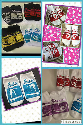 Gymnastics Trainer Liner Training Socks Novelty Squad Gift Personalised