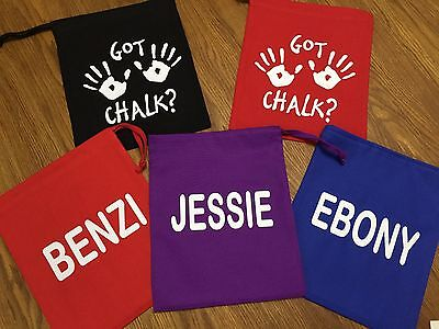 Gymnastics Hand guard Chalk Grip Bag Pouch DOUBLE-SIDED PRINT or PLAIN