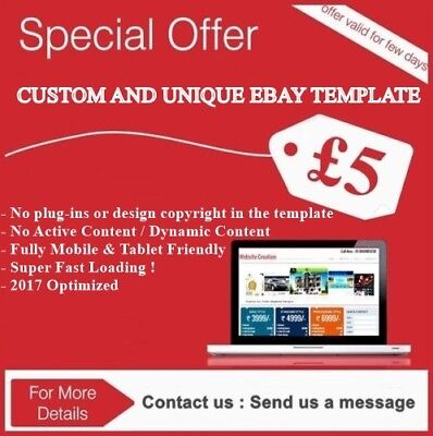 Custom Ebay Listing Auction Template Theme Html Responsive Unique Design 2017