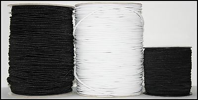 Round Elastic Bungee Shock String Stretch Cord Craft Black/white Various Widths