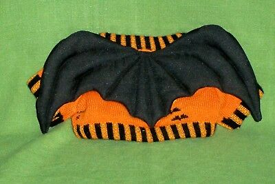 VINTAGE HALLOWEEN TEDDY BEAR CLOTHES COSTUME BAT SWEATER Large MINT!