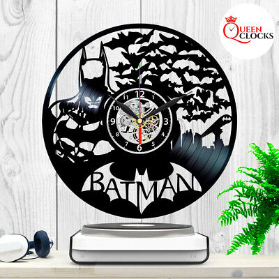 Batman Arkham Asylum DC Comics Vinyl Record Large Wall Clock Birthday Gift Decor