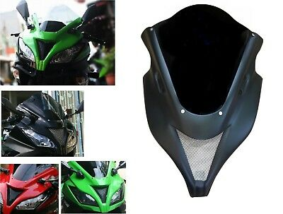 Front cowl fairing cover ZX6R Style for KAWASAKI NINJA 250 300 with Windshield