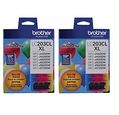 Genuine Brother MFC-J4320DW C//M//Y LC203 Combo Pack Ink High Yield 3x 550 Yield